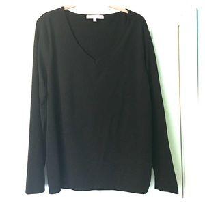 Regina X Black Vneck Tee Top Plus Size 2X XXL